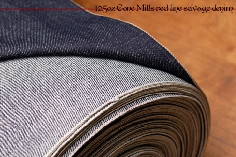 12.5oz Cone Mills red line selvage denim