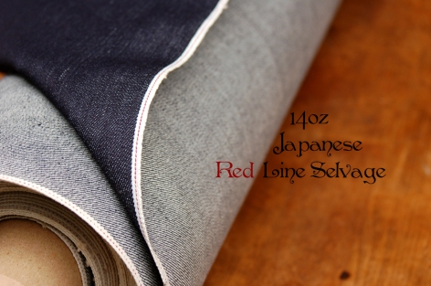 14oz, sanforized, Japanese red line Selvage Denim